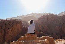 Pôr do sol em Marrocos